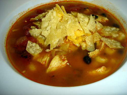 Tortilla Soup with toppings