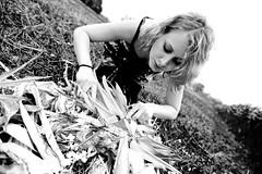 payoff meal (Matthias Rhomberg) Tags: food motion green girl field model corn cornfield nikon knife fork eat meal popcorn blonde d700 nikkor2470mmf28