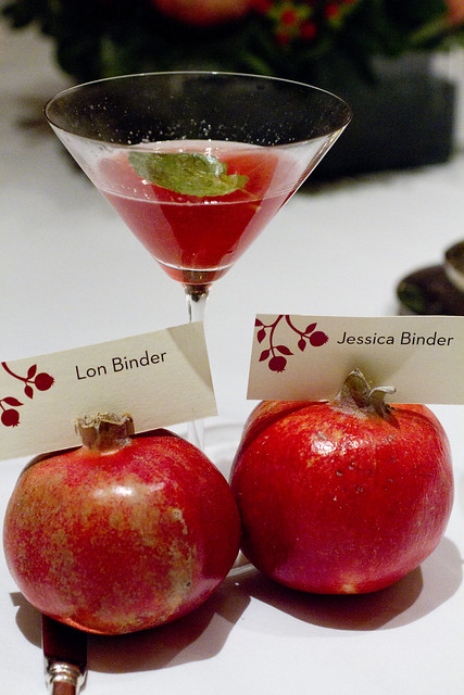 pom cocktail and seating cards