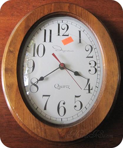 wood oval clock