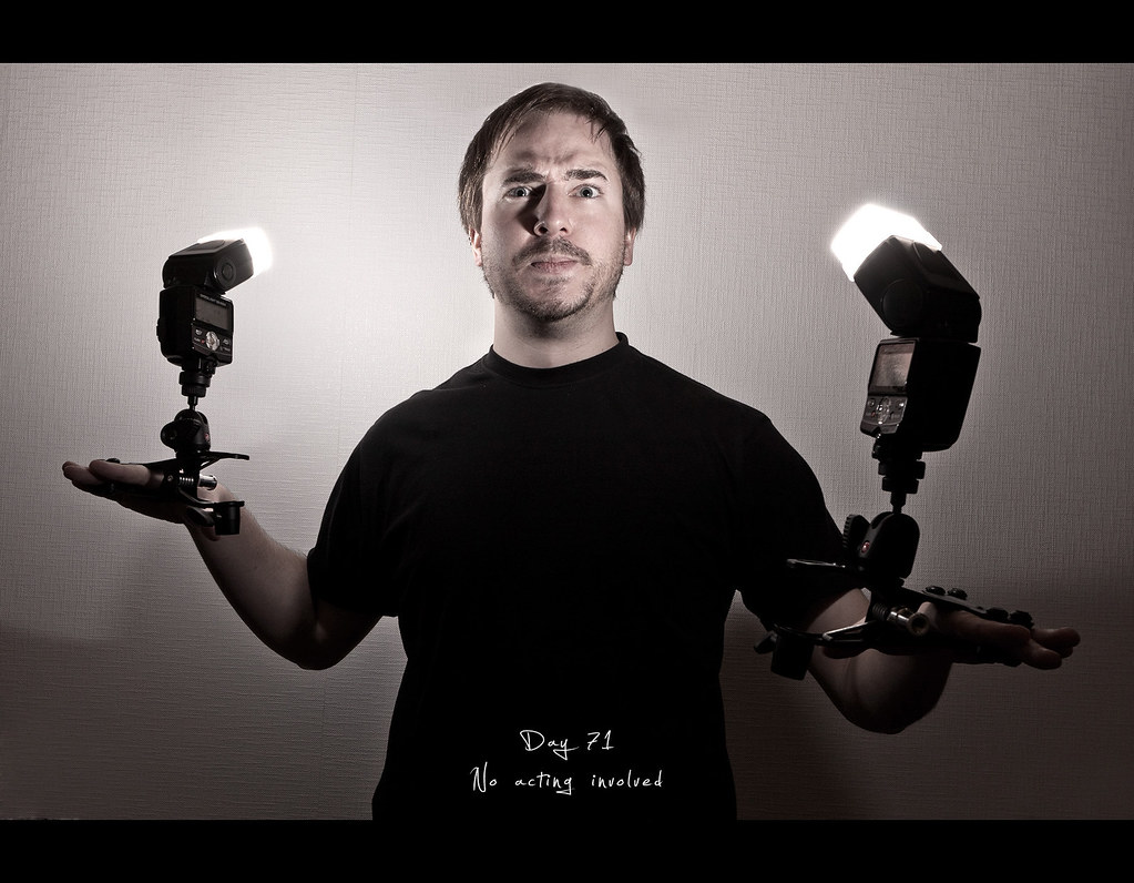 Day 71, Project 365, 071/365, Strobist, project365, justin clamp, bare flash, Self Portrait, pain, no acting involved