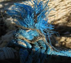do you like my new hairdo? (Harry -[ The Travel ]- Marmot) Tags: blue haircut holland netherlands dutch square fisherman punk blauw nederland hairdo gear rope knot hairdresser flickrmeet meet touw flikcr ijmuiden kapper vissersnet vierkant knoop 500x500 blauweknoop 010|020