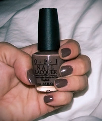 over the taupe. (Gossamer1013) Tags: hands makeup nailpolish nailvarnish opi allisvanity freakishlyshortpinky