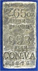 Con-Virginia 1876 Silver Ingot