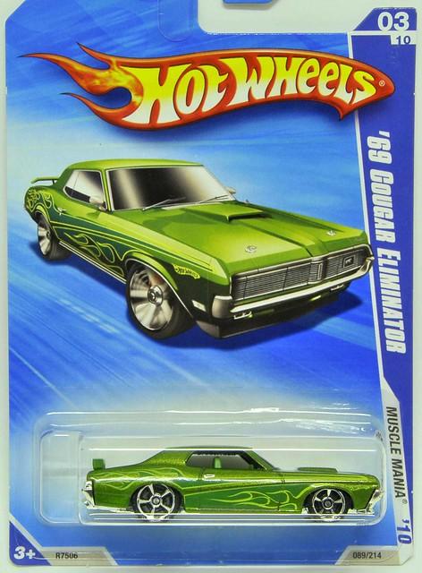 kukuspace: hot wheels 2010 - 69 cougar eliminator (green)