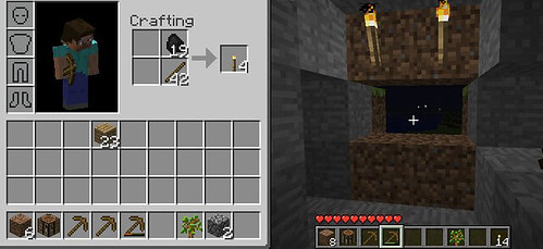 how to make torches in minecraft without coal