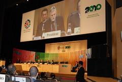 2010生物多樣性大會在日本召開的盛況。潘紀揚攝。