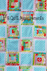 p's quilt measurements