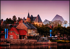 World Showcase (Jeff_B.) Tags: uk england canada epcot pub dusk fair disney disneyworld epcotcenter magickingdom roseandcrown worldshowcase unitedkingdon canadapavilion unitedkingdompavilion imaginationpavilion unitedkingdonpavilion