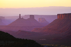 "Castle Valley, Utah (IronRodArt - Royce Bair (""Star Shooter"")) Tags: sunset tower castle rock landscape utah bravo desert natural plateau central atmosphere formation valley moab layers geology canyons castlerock castleton geological castlevalley castetontower"