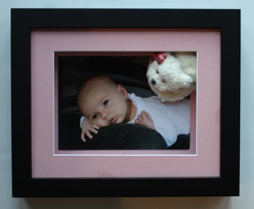 Baby photo and booty Keepsake Frame