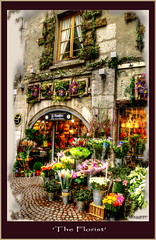 The Florist   [Explore # 68] (PhotoArt Images) Tags: flowers paris france flower building annecy explore hdr explored mpphotography photoartimages