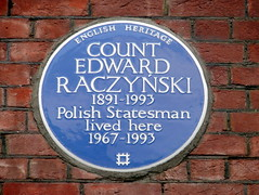 Photo of Edward Raczyñski blue plaque