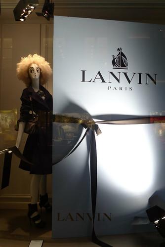 Vitrines Lanvin - Paris, octobre 2010