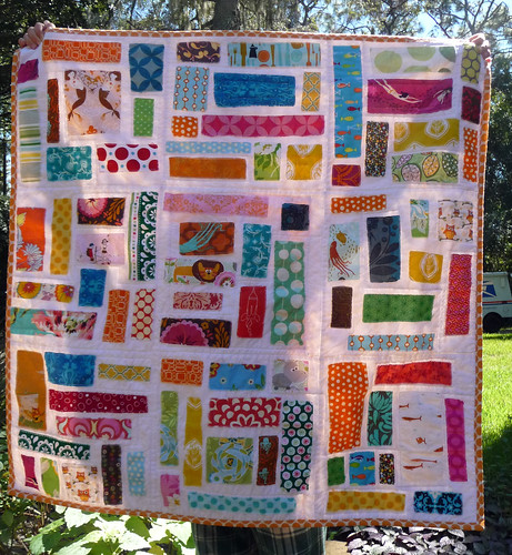 Maren's ticker tape quilt