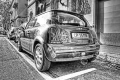Mini (Hellfire Bomber) Tags: auto road street city italy sun car torino high nikon automobile strada italia dynamic tripod mini cooper sole range turin macchina hdr citt cavalletto photomatix blackwhitephotos d5000