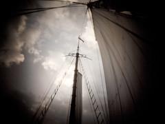 sailing 5 (wanderlustcameras) Tags: sailboat boat sailing pinhole lakemichigan wanderlust pinholecamera ep1 superwideangle digitalpinhole m43 ultrawideangle micro43 microfourthirds olympusep1 wanderlustcameras pinwide ultrawidepinhole superwidepinhole