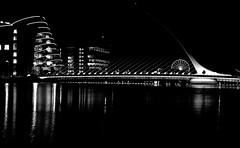 New Dublin (Sergio Martn Photography) Tags: bridge bw dublin night river liffey lowkey