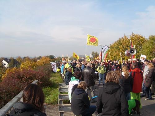 Kundgebung auf der Brücke