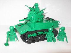 "Green Army Men M3A1 Stuart (""Rumrunner"") Tags: men green army tank lego wwii stuart ww2 worldwar2 m3a1 brickmania"