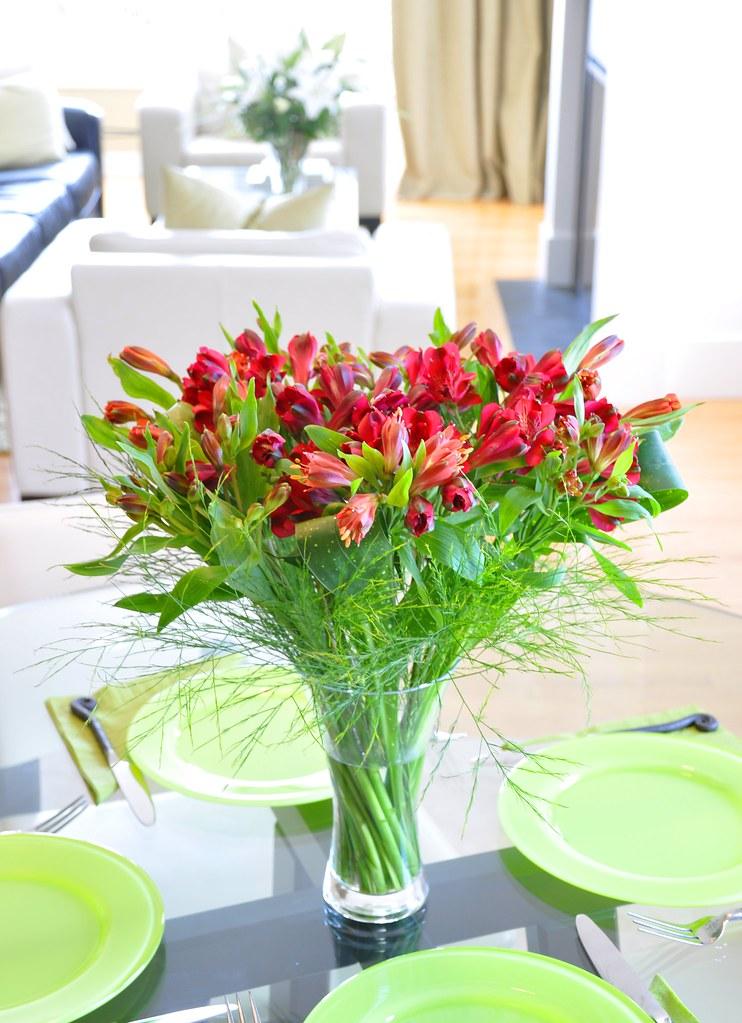 Alstromerias Vase Arrangement