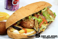 : P (R.©.W صبر ياصبر) Tags: new food yummy shot pic sandwich delicious cibo arabo فلافل لذيذ لذيذه خس اكله باذنجان بطاطس سندويش ساندوتش كاتشب مايونيز كتشب اكلات سندويشه طعميه ساندوش