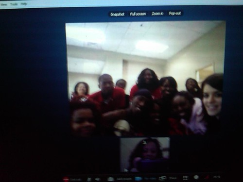 Skype visit with Philander Smith College