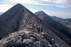 Koncheto, Kutelo and Vichren (bobbyfuego) Tags: mountain rope peaks slope steep
