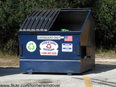 Land O' Lakes Cardboard Recycling Dumpster (FormerWMDriver) Tags: old city trash dumpster tampa garbage bottles florida o lakes center bin collection container cardboard rubbish land dumpsters fl cans waste refuse recycle recycling bins occ containers sanitation currogated
