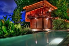 Tamu Seseh Vila (Str1ke) Tags: travel beach pool night indonesia island se high asia long exposure dynamic traditional vila range ricefields hdr balinese seseh