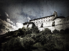 Hohe Werfen (Michael Malthe Photography) Tags: old mountains history texture clouds movie austria war story clint movieset hdr clinteastwood hdri hohe eastwood sku werfen