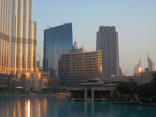 Sunrise Hits Burj Khalifa and Emirates Towers