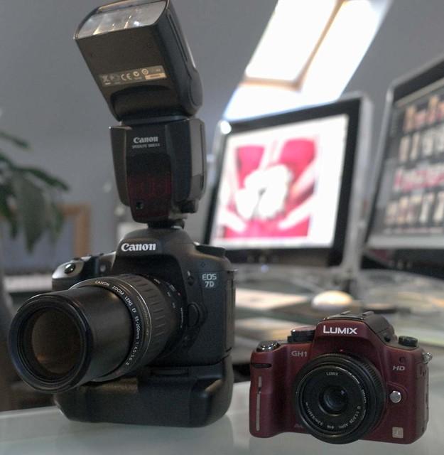 Canon 7D Panasonic GH1