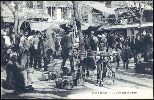 Karpostallarda yangından önce İzmir, Kemeraltı