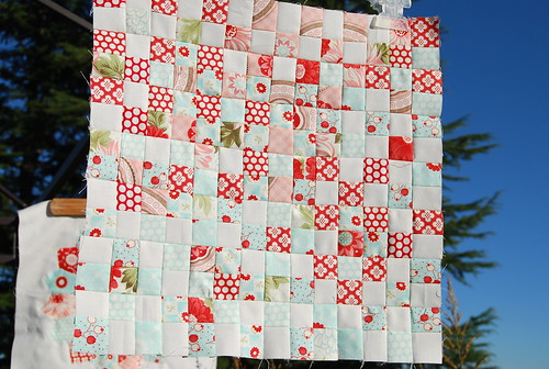 Lots of little squares for Kelly