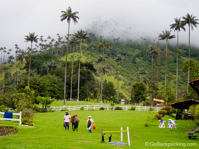 Horseback riding in Valle de Cocora is one of the top things to do in Colombia.