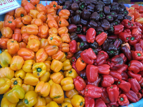 SFO Day 2: Colorful Bell Peppers at the Ferry Plaza Farmers Market
