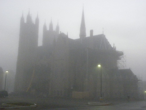 Castle in the fog by crisscrossgirl
