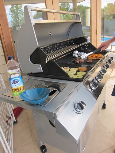 Cooking on our new BBQ