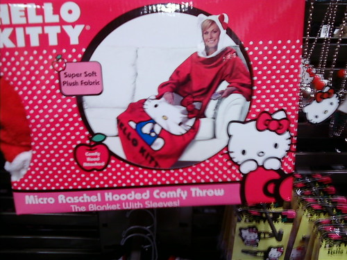 Hello Kitty Snuggie. I forgot I had this picture. I saw this last weekend at