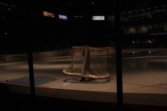 Interesting net walk (spincast1123) Tags: november red white man game reflection net ice glass sport canon dark illinois goal boards teams lowlight pipes ahl rockford 2010 copywrite protected winnebagocounty icehogs 40d canon40d peoriarivermen spincast1123 metrocentere