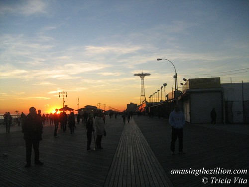 Coney Island Boardwalk at Dusk