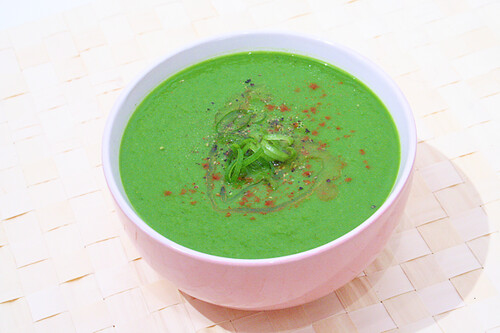 Daily Eats Nov15 Raw Spinach Zucchini Soup