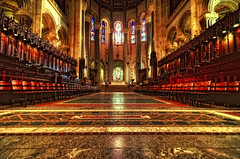 St John the Divine Cathedral, New York City (mudpig) Tags: nyc newyorkcity newyork church john geotagged cathedral interior stainedglass altar divine bishop stjohnthedivine hdr votive saintjohn mudpig stevekelley