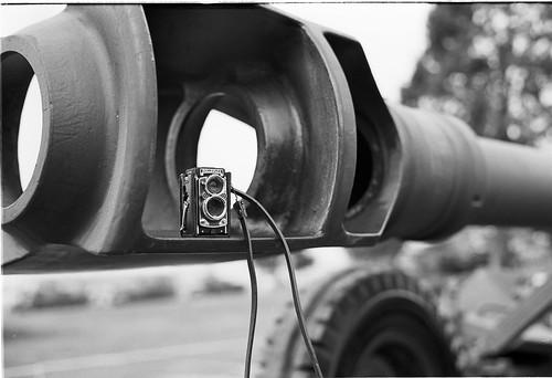Rollei on Field Howitzer 1970s