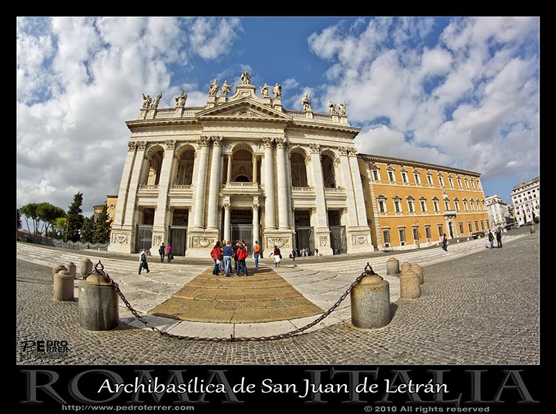 Roma - Archibasílica de San Juan de Letrán - Fachada