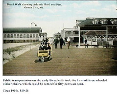 GFOC Boardwalk Rolling Chairs (kschwarz20) Tags: history md chair maryland boardwalk oceancity 1915 kts ocmd