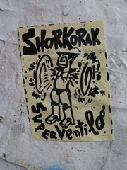 Paris, by Paella (Zerbi Hancok) Tags: street streetart paris france art wall stickers urbanart walls paella sarko sarkoland