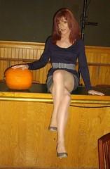 Me and the Pumpkin (Elizabeth Heatherton) Tags: drag tv cd crossdressing transvestite dragqueen transgendered crossdresser