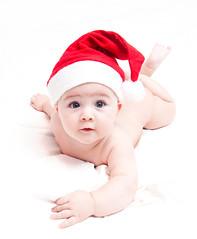 [フリー画像] 人物, 子供, 赤ちゃん, クリスマス, 201011212300